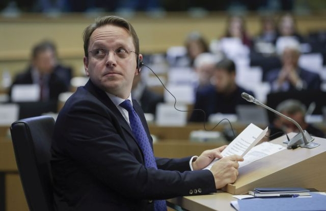 European Commissioner-designate in charge of neighborhood and enlargement policy, Oliver Varhelyi from Hungary during his hearing before the European Parliament in Brussels, Belgium, 14 November 2019. EPA/OLIVIER HOSLET