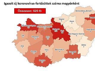 Térképen a koronavírus-fertőzöttek: Budapesten van a legtöbb beteg