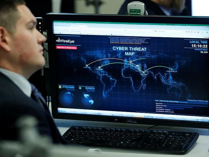 Az amerikai kibervédelemmel foglalkozó National Cybersecurity and Communications Integration Center (NCCIC) arlingtoni központja Virginiában. Illusztráció. (Fotó: Reuters / Larry Downing)