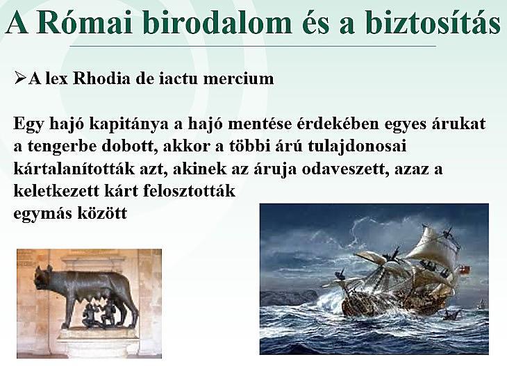 A római birodalom és a biztosítás (Mabisz)