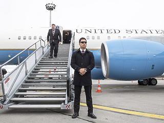 A nap képe: így landolt Ferihegyen az amerikai külügyminiszter