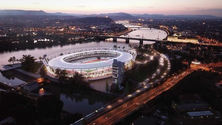 A világversenyeken nem spórolna a kormány - a Nemzeti Atlétikai Központ Budapest a NAPUR Architect Kft. látványtervén