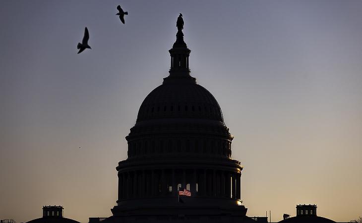 A Capitolium épülete Washingtonban, 2021. januárjában. Fotó: EPA/JUSTIN LANE