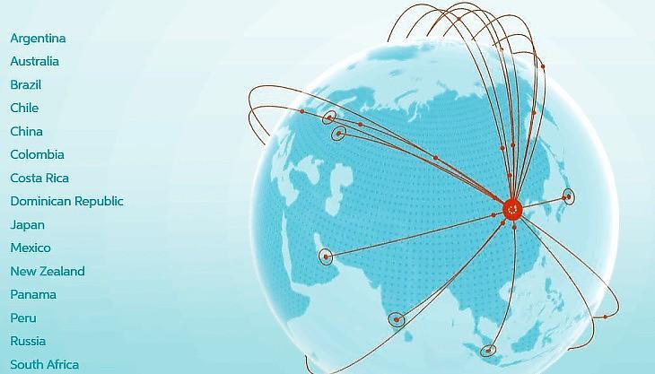 A DiDi globálisan. Behálózza majd a világot? (Forrás: A Didi honlapja.)