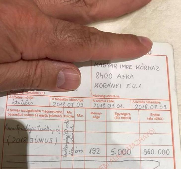 Ajkai kórházbotrány: dupla fizetést akartak az altatóorvosok
