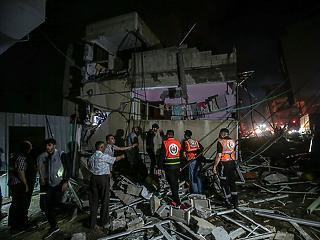 Az áramhálózatot is eltalálta az izraeli bombázás Gázavárosban