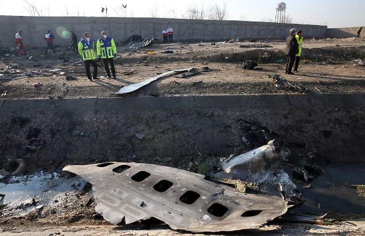 A tragédia helyszíne január 8-án. EPA/ABEDIN TAHERKENAREH