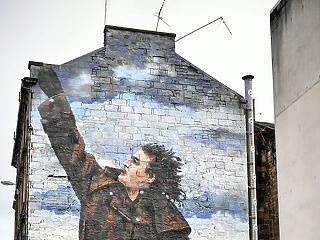A nap képe: bitang jó street art egy óriási tűzfalon
