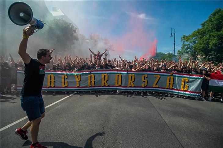 Így hangoltak a magyar szurkolók a portugálok elleni meccs előtt