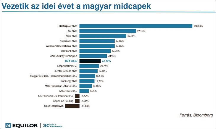 A magyar midcap-ek teljesítménye