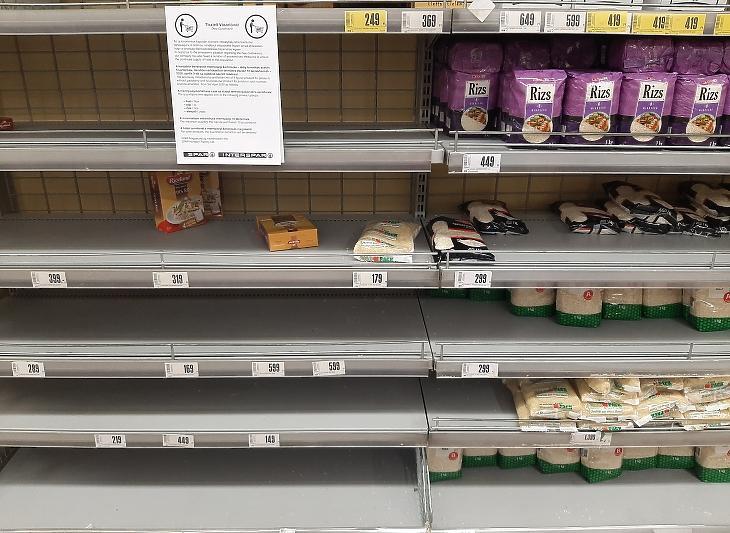 Rizsből sincs hiány, legfeljebb választékból. Még 10 kilós kiszerelést is árulnak az Intersparban. Fotó: Privátbankár