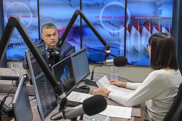 Orbán Viktor miniszterelnök ma a Kossuth Rádióban az egészségügyről is beszélt. Fotó: mti