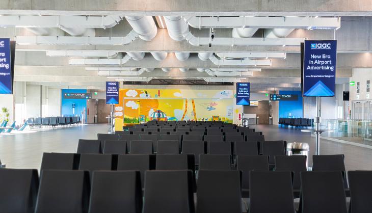 Utasokra vár ez a terem is Ferihegyen (forrás: Budapest Airport)