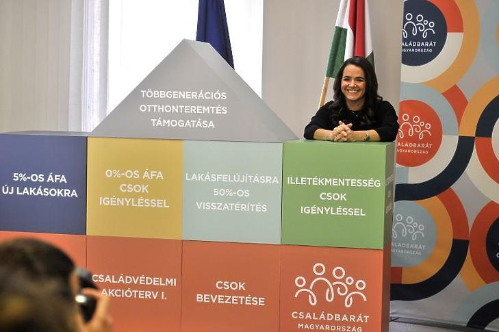 Novák Katalin családokért felelős tárca nélküli miniszter (Fotó: MTI/Kovács Attila)