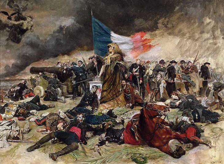 Jelenet az 1870-71-es német-francia háborúból. Fotó: historytoday.com