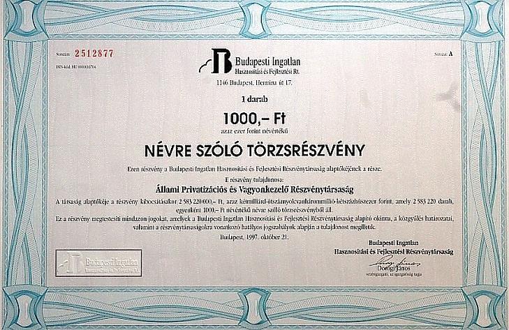 Zsíros harminc százalékkal ér többet a magyar ingatlanbefektető társaság?