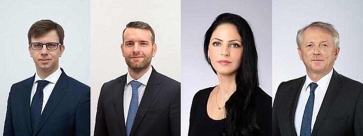 Dr. Bóka János, Steiner Attila, Dr. Boros Anita, Dr. Kaderják Péter (Montázs: Privátbankár.hu - Képek forrása: kormány.hu)