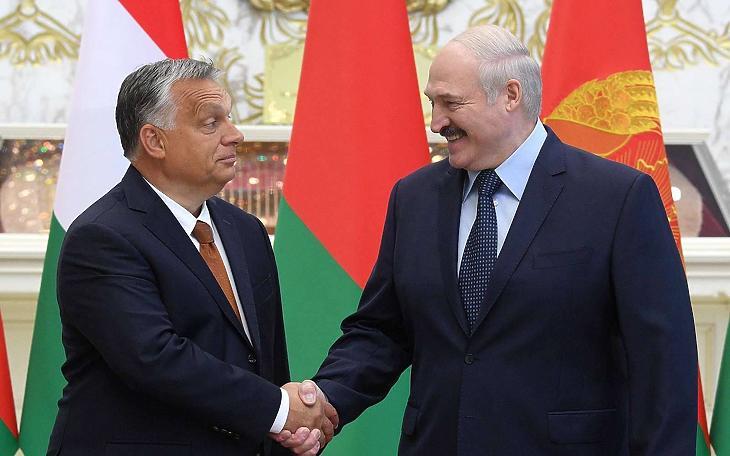 Orbán Viktor és Aljakszandr Lukasenka (Fotó: MTI)