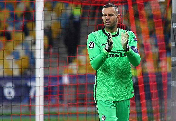 Az Inter kapusa, Samir Handanovic. Fotó: depositphotos