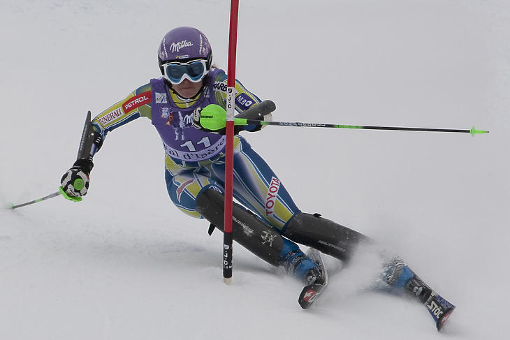 Tina Maze többszörös olimpiai és világbajnok alpesi síző. Fotó: depositphotos