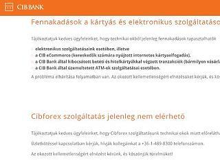 Gond van a CIB Banknál
