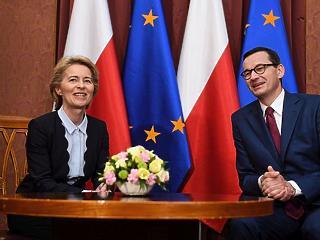 A nap képe: a lengyelekhez már beköszönt Európa új nagyasszonya