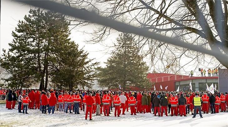 Eredményes volt a 2019. januári sztrájk (Fotó: MTI - Krizsán Csaba)
