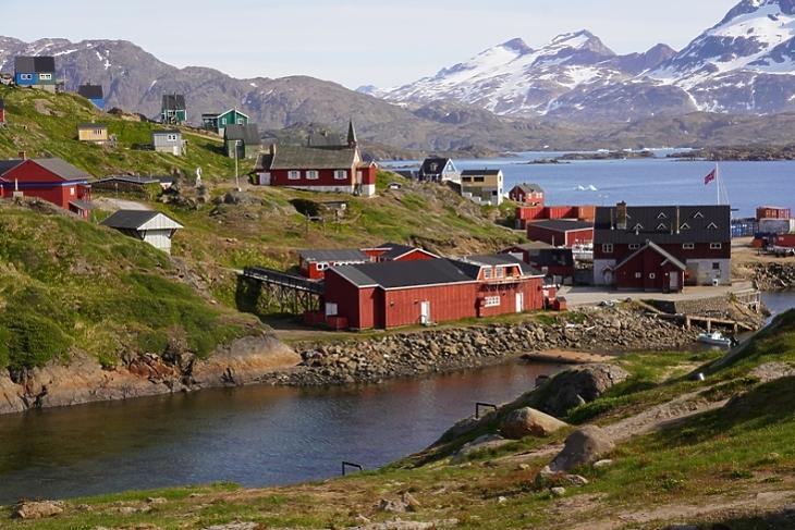 A Sermiligaaq nevű település Grönlandon. (Fotó: Wikipédia/Ray Swi-hymn)
