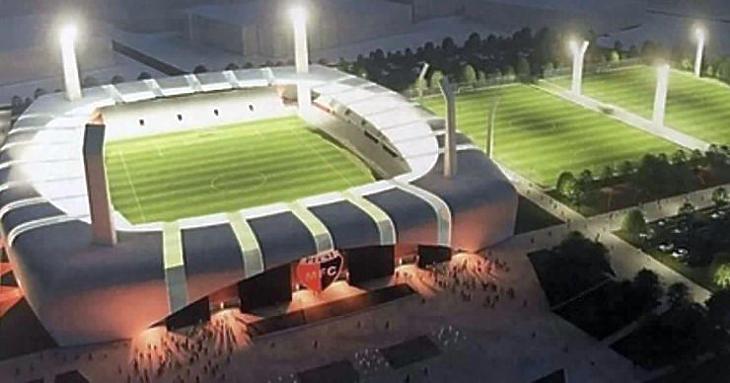Az új stadion látványterve
