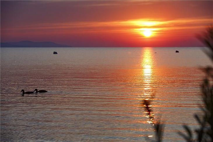 A Balatonon vegyes a kép. Fotó: MTI