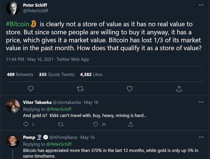 Peter Schiff tweetje