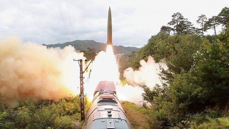 Kilövés - Fotó: KCNA