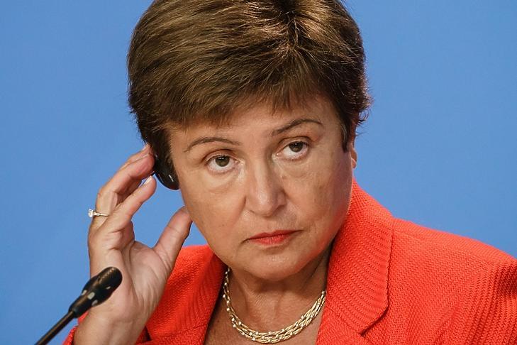 Aránytalan nyomásgyakorlás. Kristalina Georgieva, a Világbank korábbi vezérigazgatója, az IMF jelenlegi vezére. (EPA/CLEMENS BILAN)