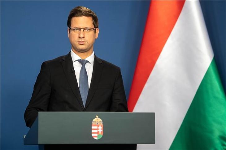 Gulyás Gergely, a Miniszterelnökséget vezető miniszter. MTI/kormany.hu/Botár Gergely