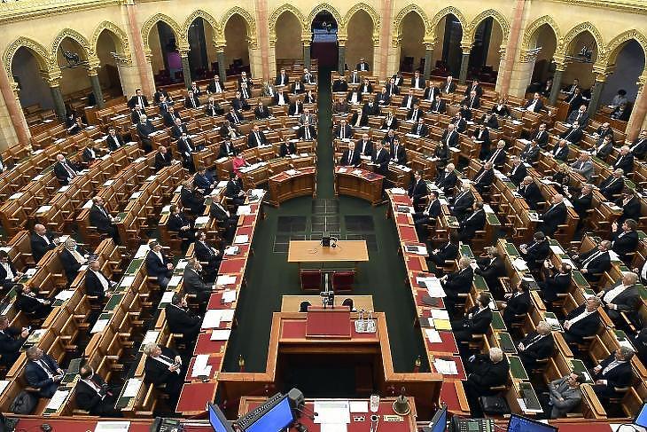 A Parlament ülésterme (Fotó: MTI)
