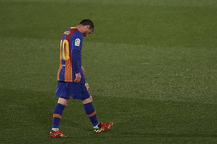 Lionel Messi, még az FC Barcelona mezében.  EPA/JUANJO MARTIN