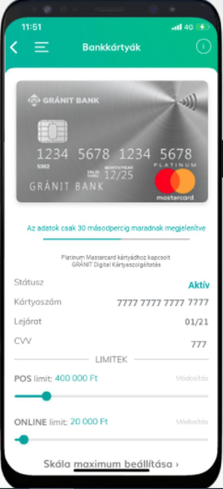 A számlanyitás másnapján a mobiltelefonra költözik a kártyafunkció. Fotó: Gránit Bank