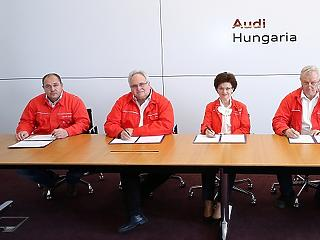 A kényszerleállás közepette született meg a bérmegállapodás az Audinál