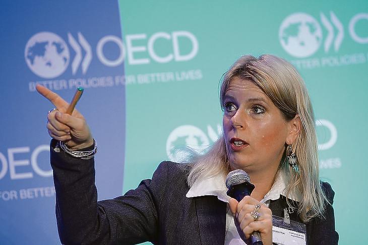 Ürge-Vorsatz Diána az OECD egy korábbi konferenciáján. (Fotó: Marco Illuminati/OECD)