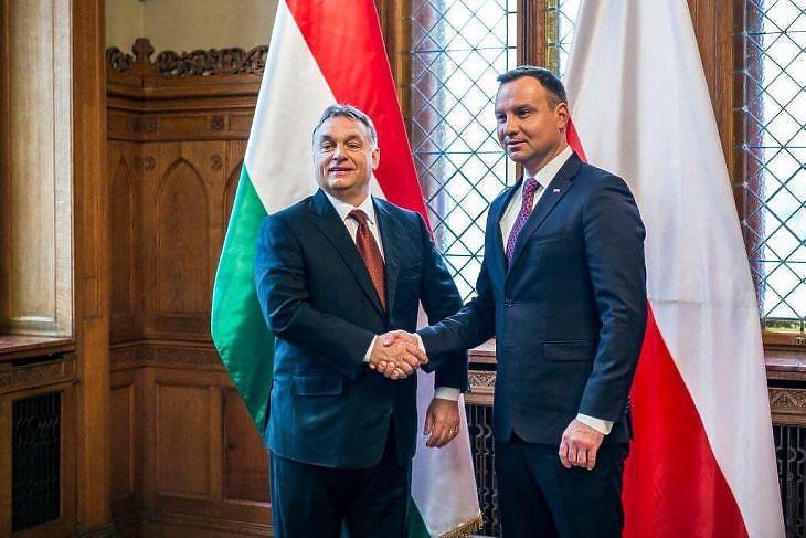 Orbán Viktor és Andrzej Duda. (Forrás: Facebook)