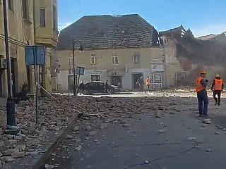 Földrengés Horvátországban: épületek dőltek össze, sátrakban helyezik el az embereket