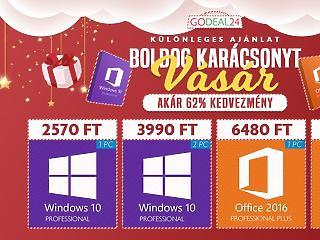 Karácsonyi akciók: Vásárolj Windows 10-et akár 2500 forintért