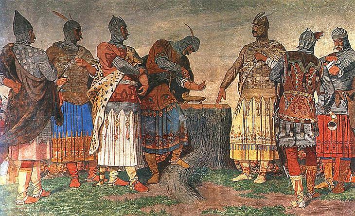 Szépek a mondák, de van aki szerint ha csak ezeket ismertetik, az nem történelemoktatás (Illusztráció - Székely Bertalan: Vérszerződés című festménye, forrás: Wikipedia)