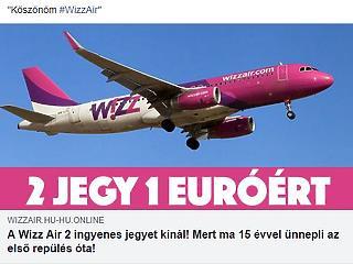 Hatalmas átverés a Facebookon: ne dőlj be ennek a Wizz Air hirdetésnek