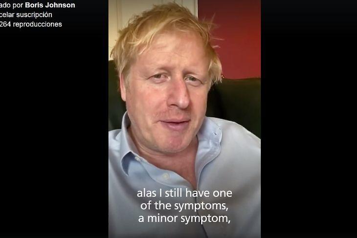 Boris Johnson karanténban a Downing Streeten 2020. április 3-án. (Forrás: Facebook)