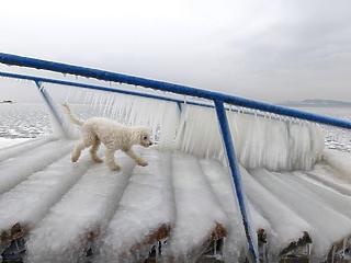 Nagyon hideg van, lehet korcsolyázni a Balatonon?