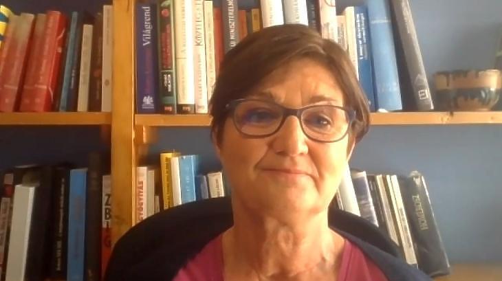 Lantos Gabriella az előfizetőknek beszélt a járványhelyzetről. Fotó: privátbankár.hu
