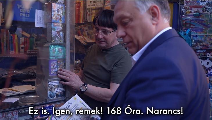 Orbán Viktor kedélyeskedő kabaréjelenetben találja meg az elveszett magyar sajtószabadságot