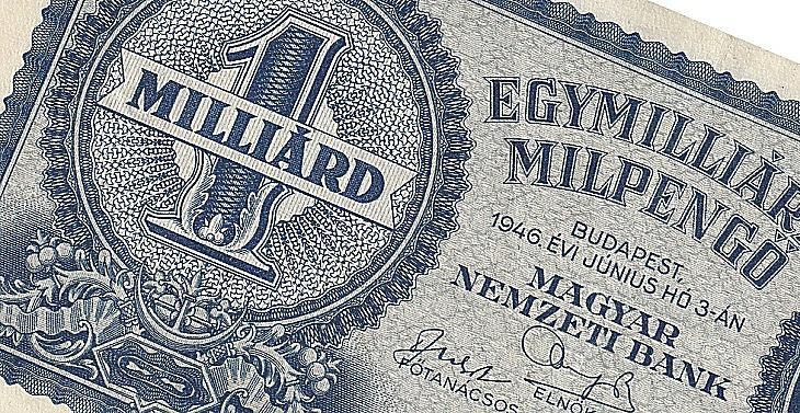 Egymilliárd milpengő - a hiperinfláció mementója