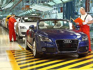 Szétgyártotta magát tavaly a győri Audi